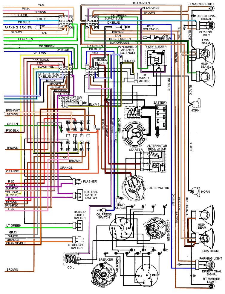 Wir on 1970 chevy alternator wiring diagram