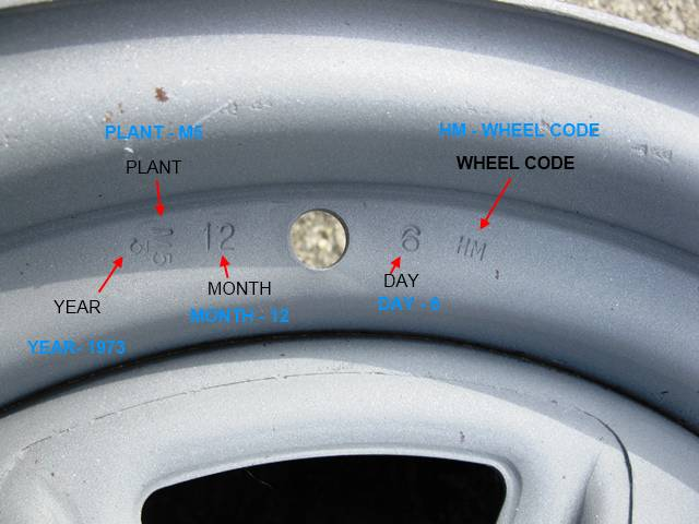 1973 Dated Hm Wheel Date Made Dec 6 The Plant Code Is M5 5 Being For Diffe Line