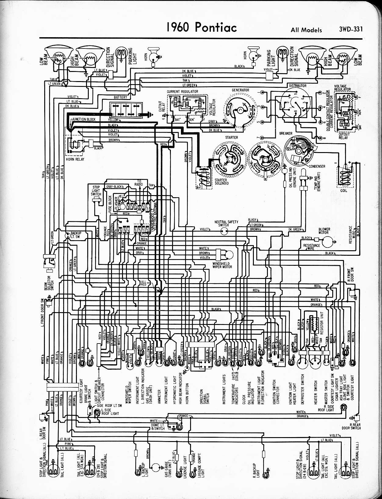 wallace racing - wiring diagrams 1960 pontiac wiring diagram