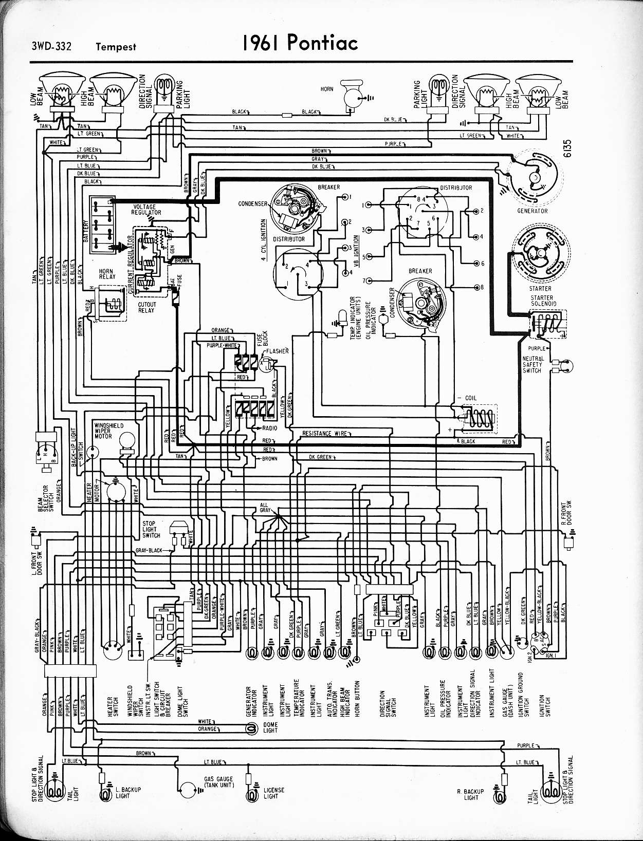 Wallace Racing Wiring Diagrams 1968 GTO Wiring-Diagram Starting 1968 Gto Wiring  Diagram