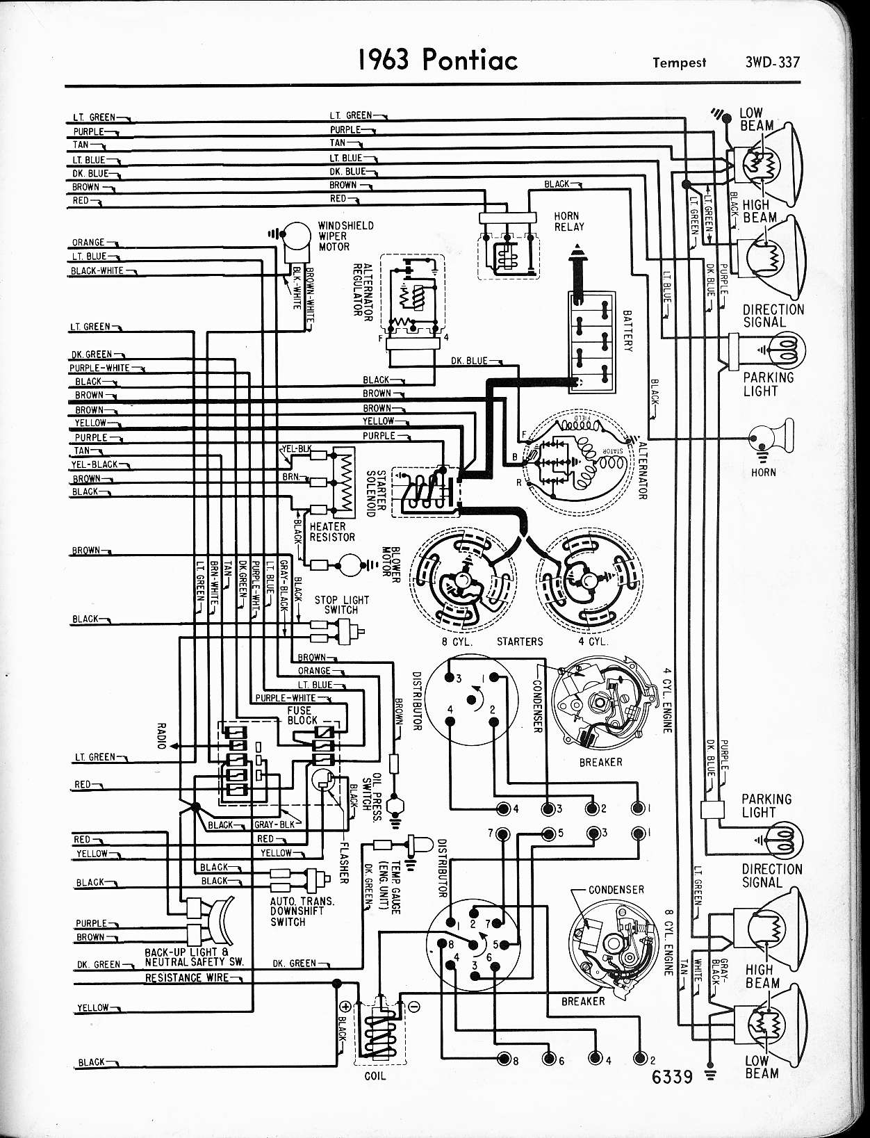 pontiac lemans wiring diagram wiring library 1973 Corvette Vacuum Schematic 1963 tempest wiring right page