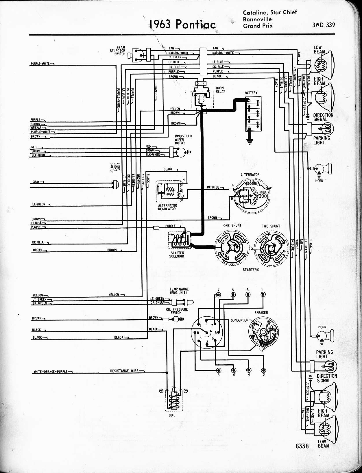 wallace racing wiring diagrams 1997 Pontiac Grand Prix Engine Diagram 1963 catalina, star chief, bonneville, grand prix, right page Pontiac Grand Prix Engine Diagram