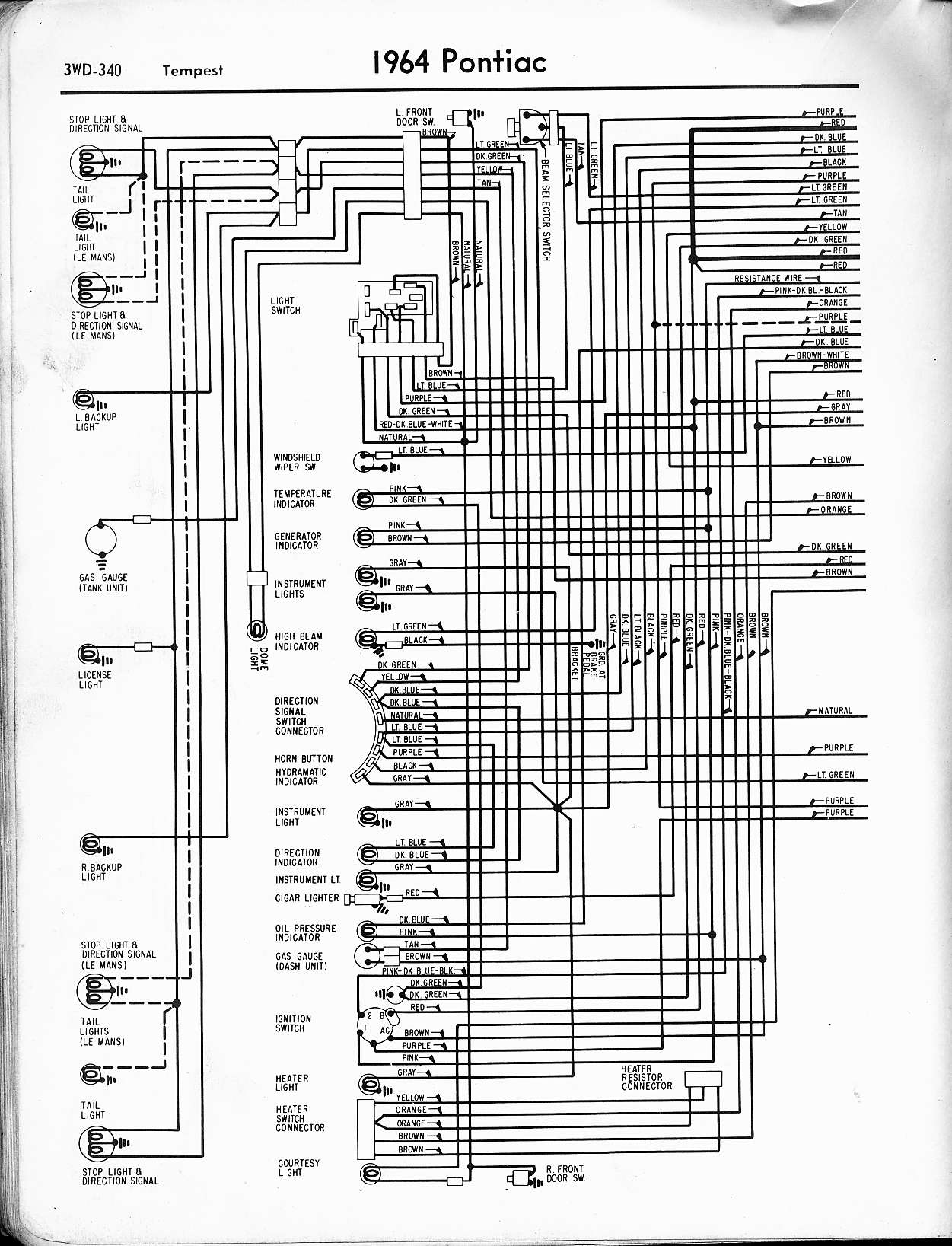 1964 gto wiring schematic wiring diagram u2022 rh tinyforge co 1966 GTO Wiring-Diagram 1964 GTO Dash Wiring Diagram