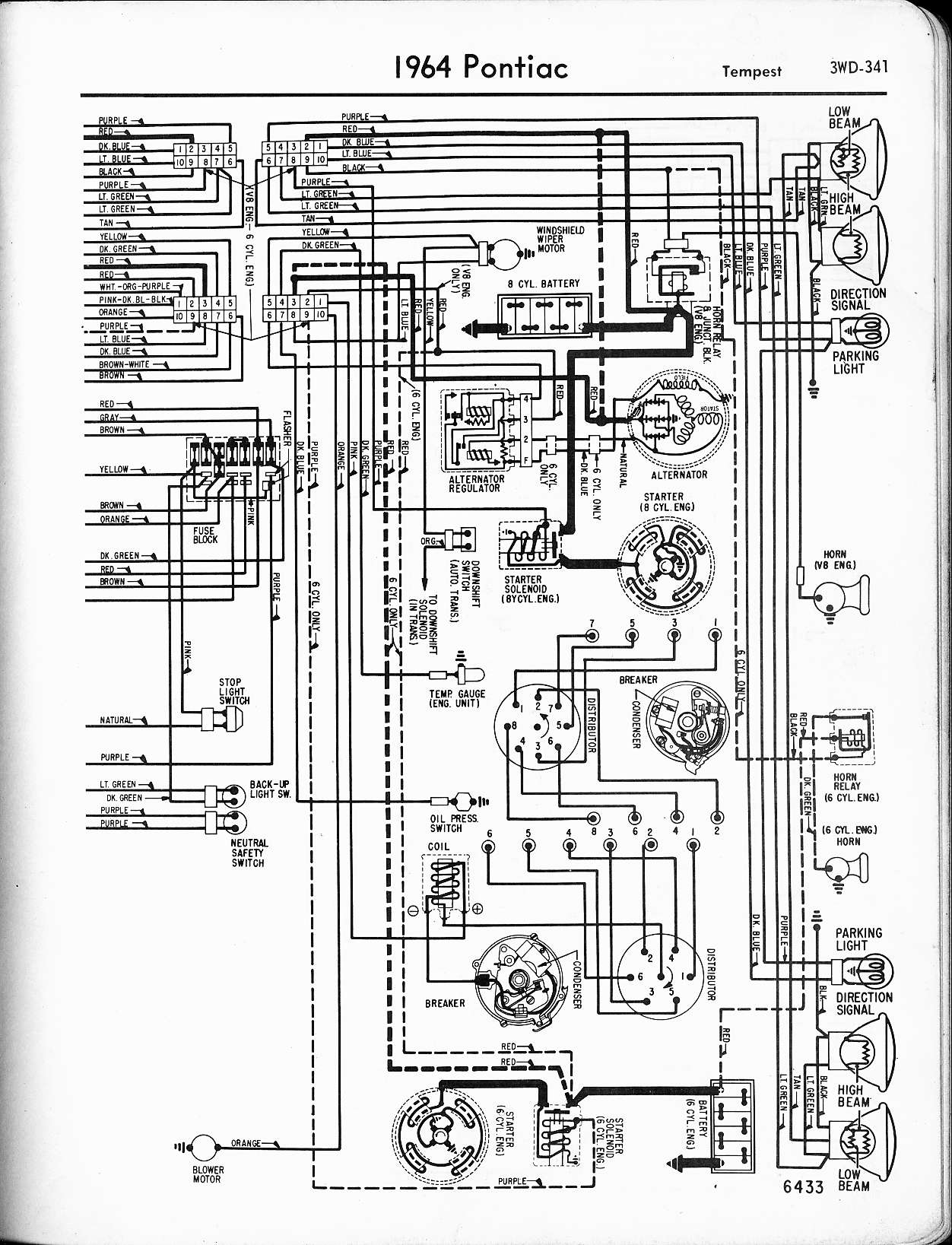 wallace racing wiring diagrams 1967 gto hood tachometer wiring diagram 1964  tempest, left page