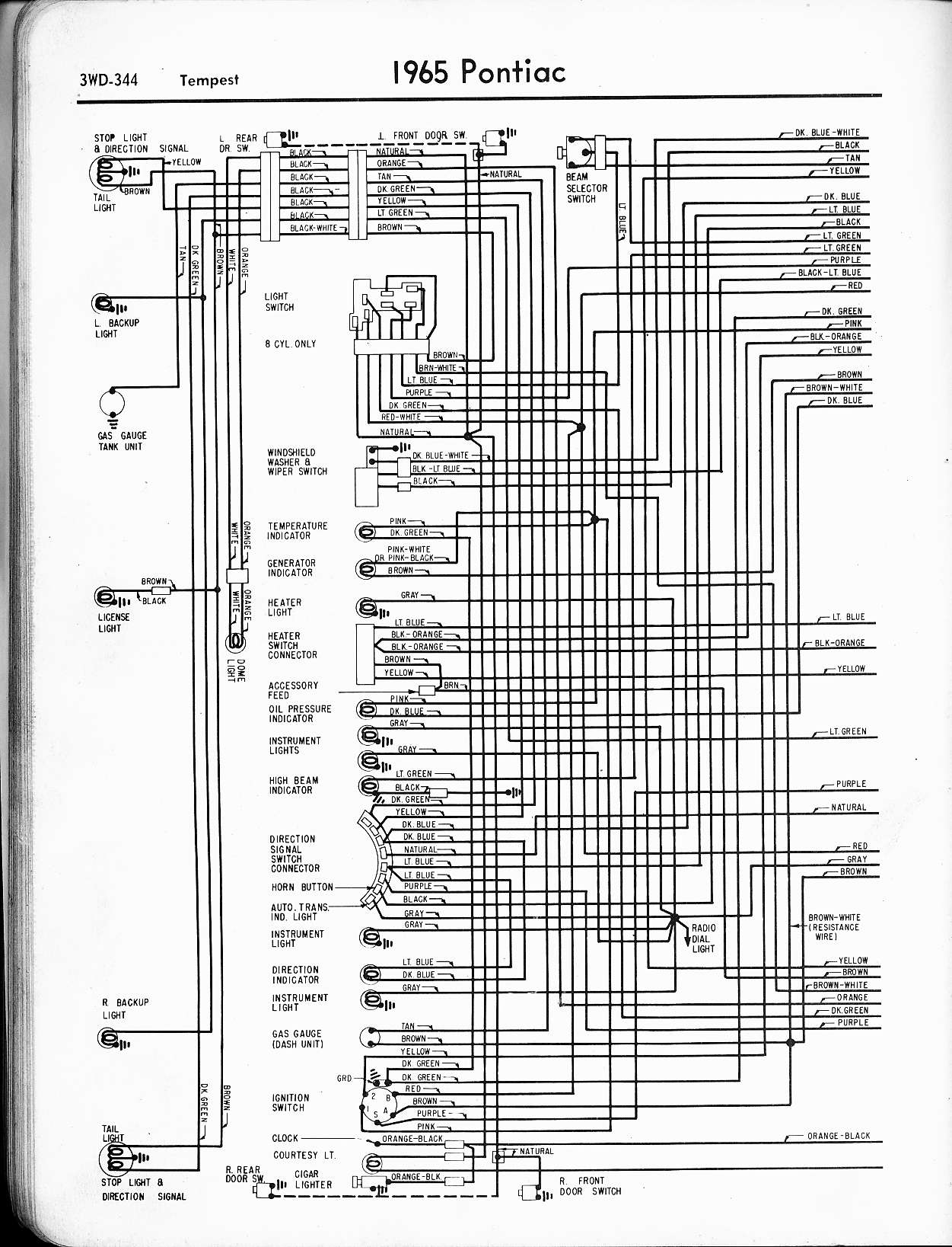wallace racing wiring diagrams 1969 corvette wiper wiring diagram 1965 tempest, left page