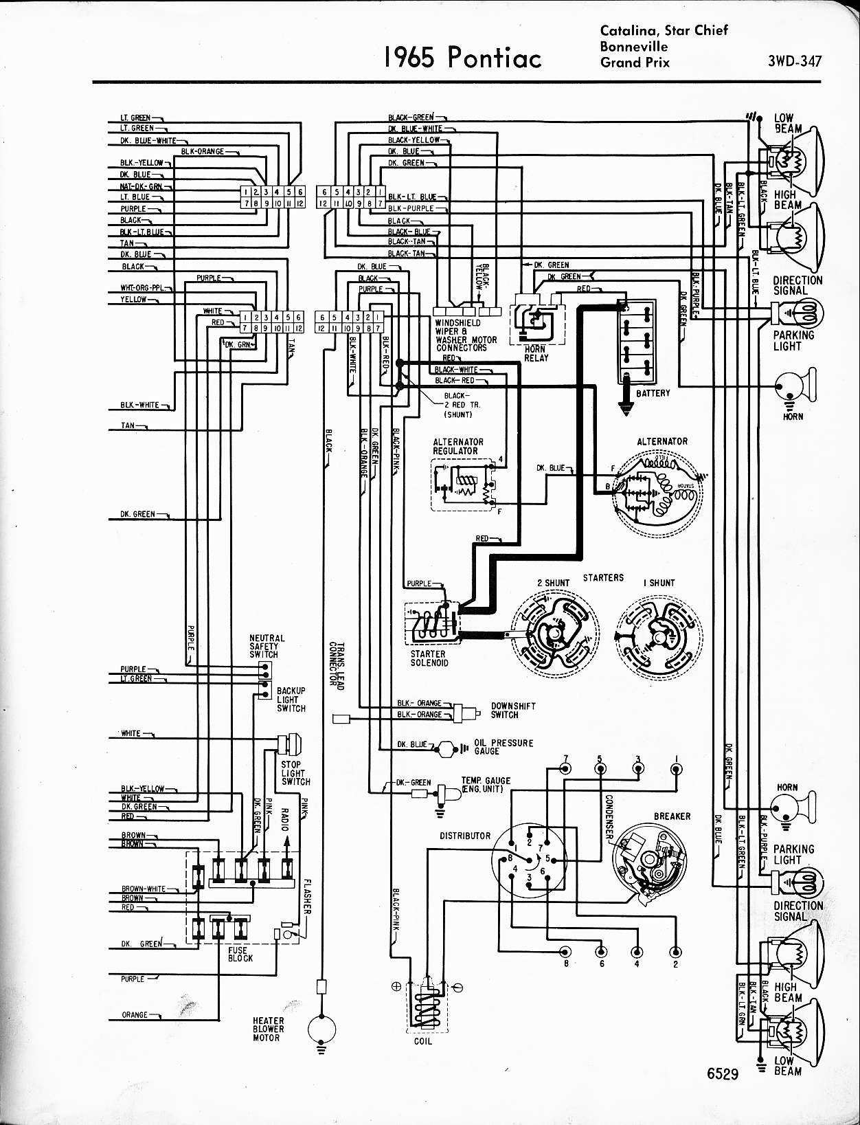 1970 Gto Wiring Diagram Schematic Name Mustang Starter Wallace Racing Diagrams 1965 Catalina Star Chief Bonneville
