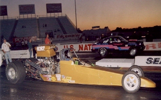 Picture of My Pontiac powered dragster with 455 and Edelbrock heads